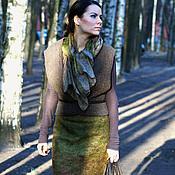 """Одежда ручной работы. Ярмарка Мастеров - ручная работа валяная юбка  """"поздняя осень"""". Handmade."""