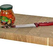 Для дома и интерьера ручной работы. Ярмарка Мастеров - ручная работа Торцевая  разделочная доска  400х250х40мм - дуб. Handmade.