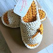 Обувь ручной работы handmade. Livemaster - original item Slippers knitted 35-36P. Handmade.