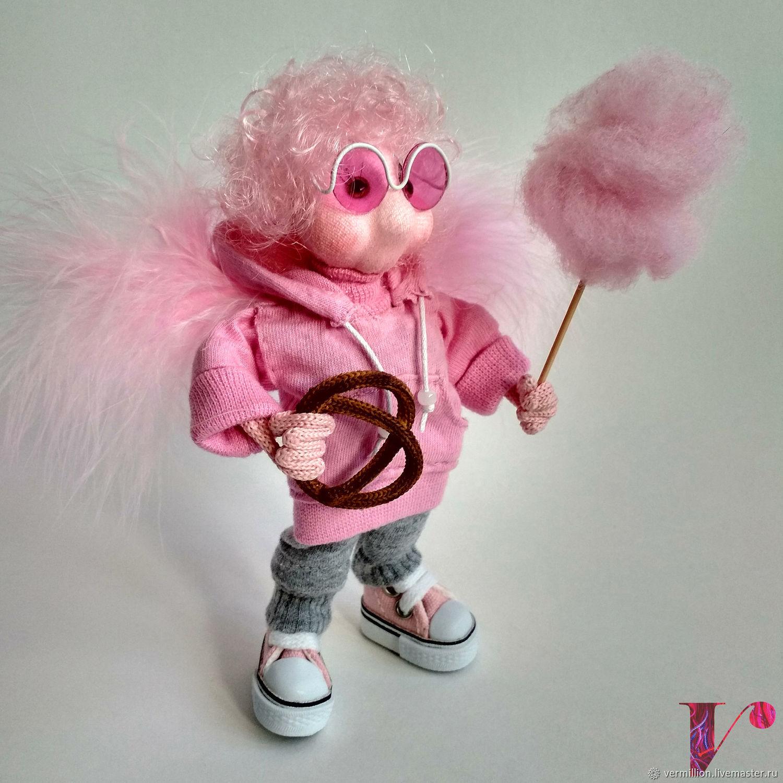 Кукла Ангел-оптимист  Феликс. Текстильная каркасная куколка, Куклы и пупсы, Москва,  Фото №1