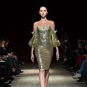Одежда handmade. Livemaster - original item Gold dress-transformer. Handmade.