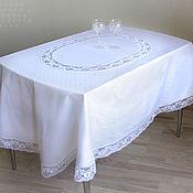 Для дома и интерьера handmade. Livemaster - original item Tablecloth oval white Honeycomb. Handmade.