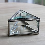 Свадебный салон handmade. Livemaster - original item Wedding box. Silver jewelry box Tiffany from facets. Handmade.