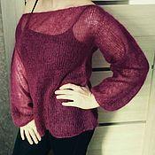 Одежда handmade. Livemaster - original item Knitted jumper from Italian kid mohair on silk. Handmade.