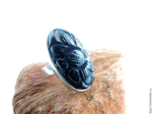 Кольца ручной работы. Ярмарка Мастеров - ручная работа. Купить Серебряное Кольцо с черным ониксом. Handmade. Украшение с камнями, Бижутерия