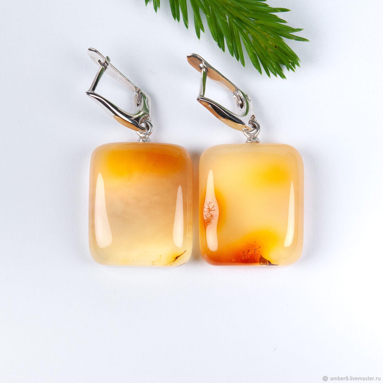 Amber. Earrings - ' Caramel', Earrings, Kaliningrad,  Фото №1