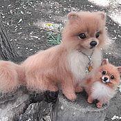 Куклы и игрушки handmade. Livemaster - original item Felt toy:Wool Pomeranian. Handmade.