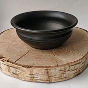 Посуда handmade. Livemaster - original item Bowl deep. Black pottery.. Handmade.