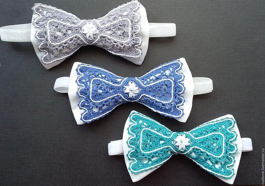 Галстуки, бабочки ручной работы. Ярмарка Мастеров - ручная работа. Купить Кружевная бабочка галстук Вологодское коклюшечное кружево. Handmade.