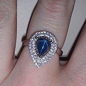 Украшения handmade. Livemaster - original item Ring Polaris 6rays sapphire. Handmade.