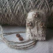 Украшения handmade. Livemaster - original item Linen brooch