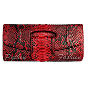 Сумки и аксессуары handmade. Livemaster - original item Evening clutch made of Python VIRGINI. Handmade.