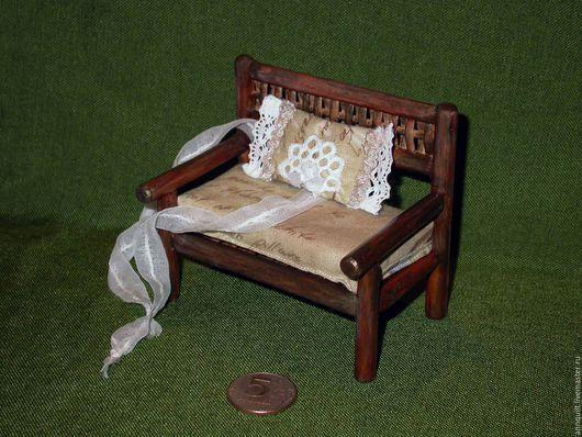 Кукольный дом ручной работы. Ярмарка Мастеров - ручная работа. Купить Скамеечка для феечки. Handmade. Для мини кукол, из лозы