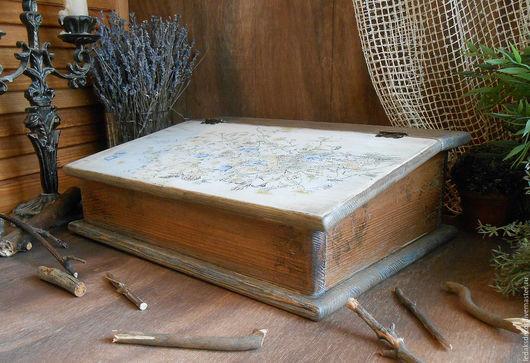 Настольное бюро для бумаг. Массив настоящего сибирского кедра и сосны. `LedaksDecor` -для уютного дома!