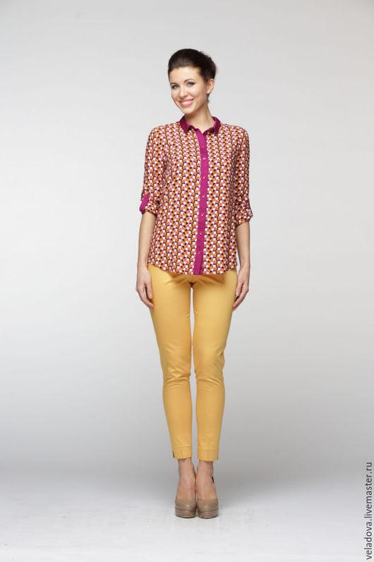 """Блузки ручной работы. Ярмарка Мастеров - ручная работа. Купить Блузка """"Яркая Геометрия"""". Handmade. Разноцветный, блузка с узором"""