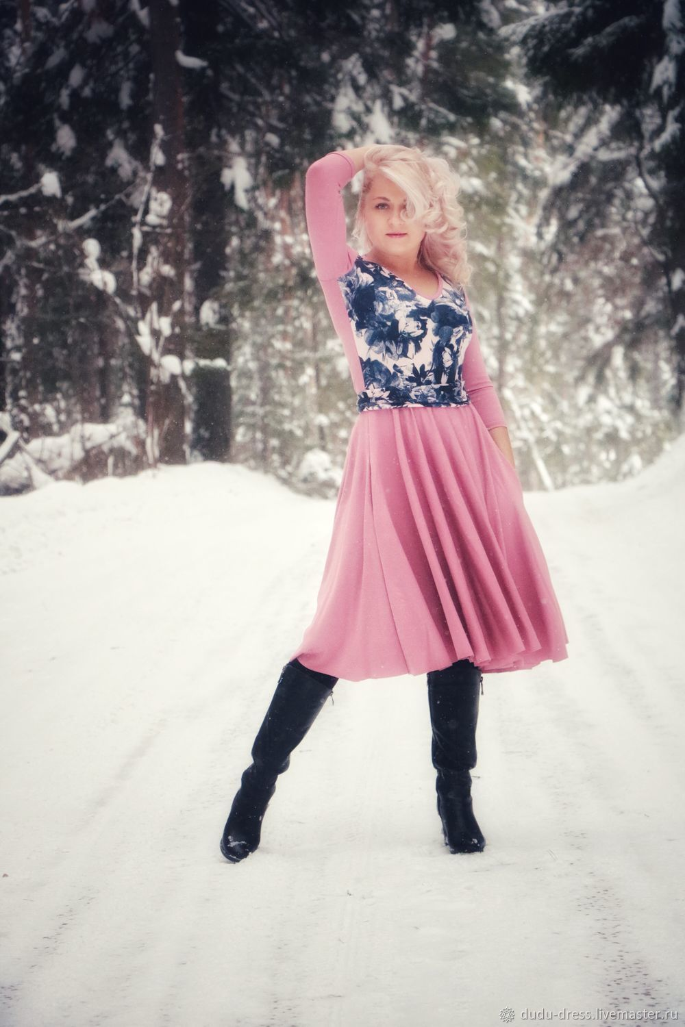 """Pink dress """"The Spring"""", Dresses, Moscow,  Фото №1"""