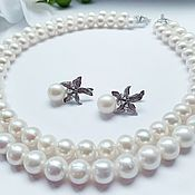 Украшения handmade. Livemaster - original item Pearl necklace and earrings. Handmade.