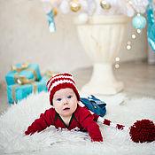 Работы для детей, ручной работы. Ярмарка Мастеров - ручная работа Новогодний колпак для фотосессии малышей. Handmade.