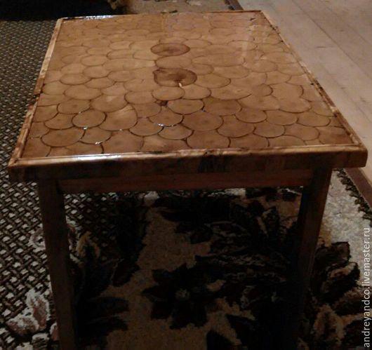Мебель ручной работы. Ярмарка Мастеров - ручная работа. Купить Столик. Handmade. Бежевый, столик для завтрака, лак глянцевый