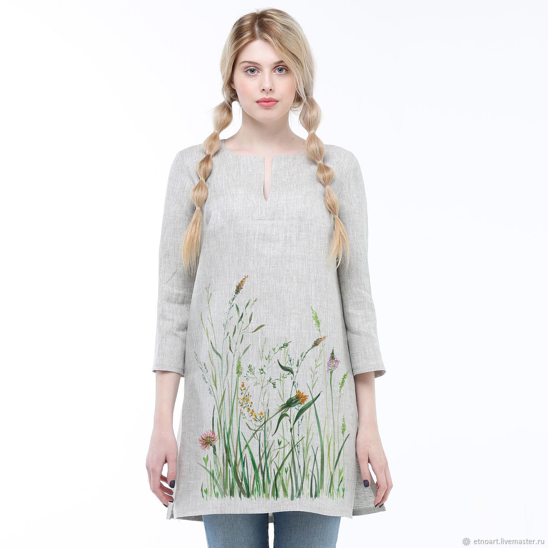 Linen tunic ' Meadow grasses', Tunics, Tomsk,  Фото №1