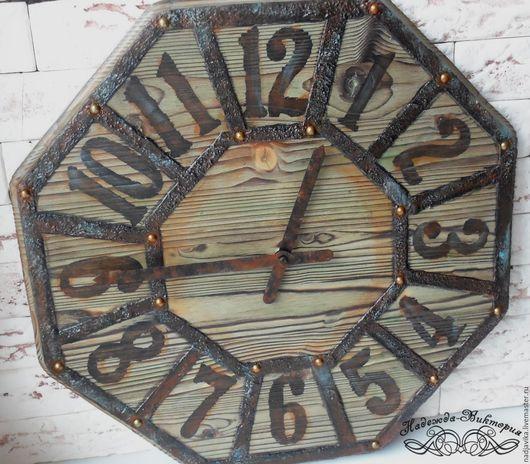 """Часы для дома ручной работы. Ярмарка Мастеров - ручная работа. Купить Часы настенные """"Подарок старого фермера"""". Handmade."""