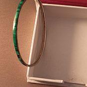Винтаж handmade. Livemaster - original item Bracelet MALACHITE CONGO natural malachite bronze vintage 1980s. Handmade.