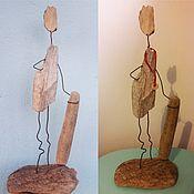 Для дома и интерьера handmade. Livemaster - original item Interior toy Driftwood Snowboarder. Handmade.