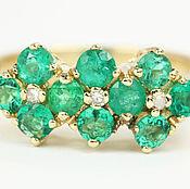 Rings handmade. Livemaster - original item 14K Colombian Emerald Band, Emerald Band, Emerald Engagement Band,. Handmade.
