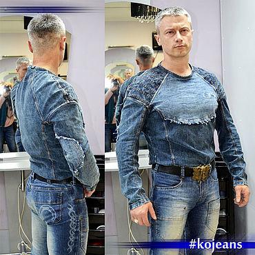 Одежда ручной работы. Ярмарка Мастеров - ручная работа Джемпер джинсовый. Kojeans Denim shirt.. Handmade.