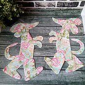 Материалы для творчества ручной работы. Ярмарка Мастеров - ручная работа заготовка Такса цветочная. Handmade.