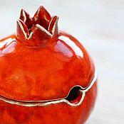 """Посуда ручной работы. Ярмарка Мастеров - ручная работа Сахарница """"Гранат"""". Handmade."""
