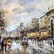 "Пейзаж Парижа Антуана Бланшара ""A view of the Porte de Saint Denis (Ви"