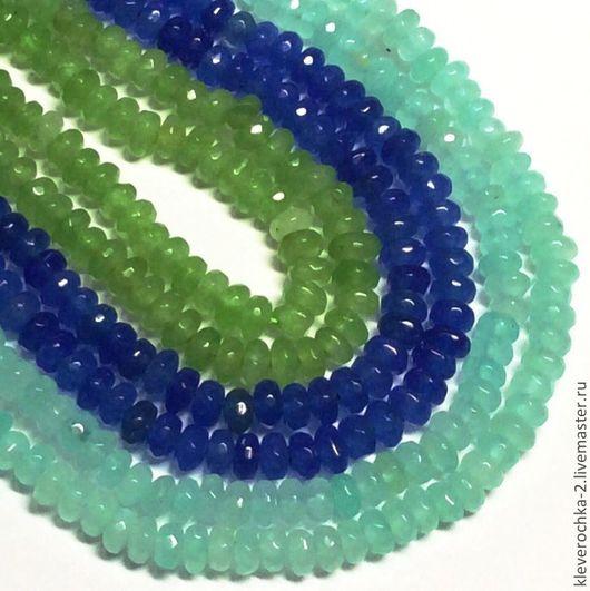 Кварц 10 шт рондель 3 цвета огранка камни для украшений Бусины кварца для браслетов, колье,бус, сережек, ожерелья