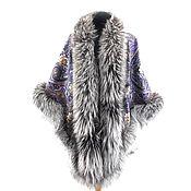Аксессуары handmade. Livemaster - original item New 2020! Exclusive shawl with silver Fox fur. Handmade.
