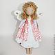 Ангел-хранитель Арина, кукла ручной работы, интерьерная, игровая игрушка
