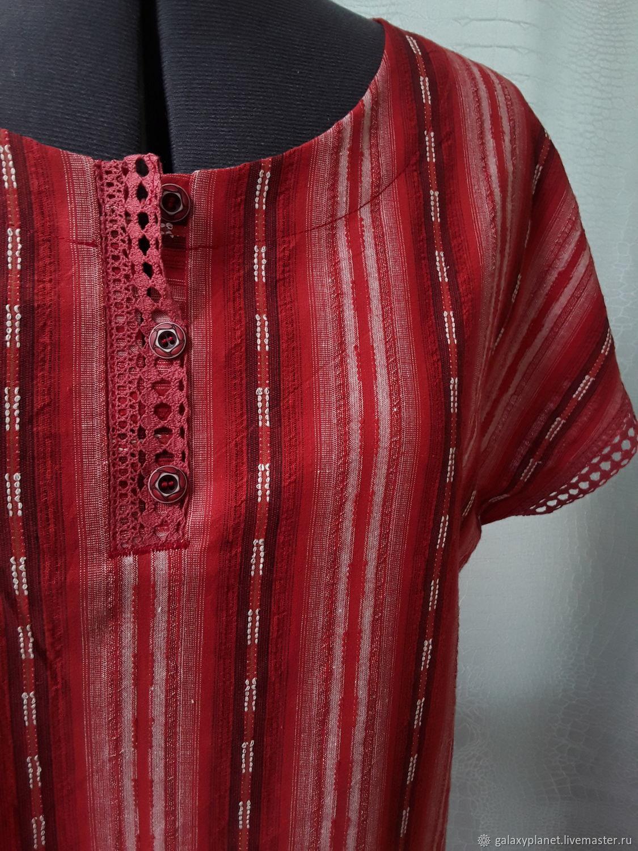 Платье-поло прямое со спущенными плечами, хлопок, Платья, Солнечногорск,  Фото №1
