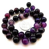 Материалы для творчества ручной работы. Ярмарка Мастеров - ручная работа Агат 33 ккамня набор фиолетовый бусины шар 10 мм гладкие. Handmade.