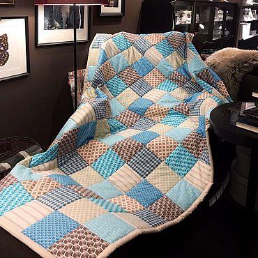 Текстиль ручной работы. Ярмарка Мастеров - ручная работа Лоскутное одеяло. Handmade.