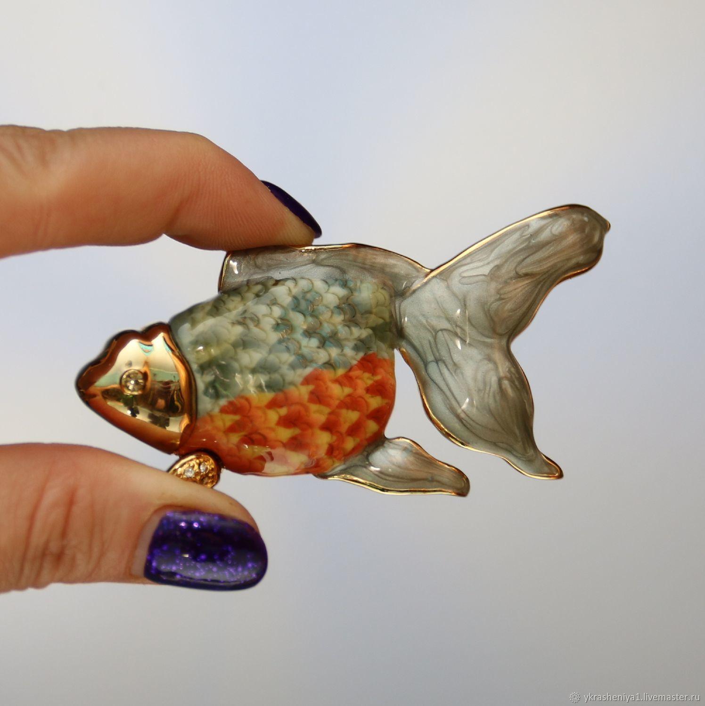 Винтаж: БРОШЬ рыбка Италия 159, Броши винтажные, Москва,  Фото №1