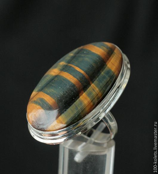 Кольца ручной работы. Ярмарка Мастеров - ручная работа. Купить Кольцо с тигровым глазом. Handmade. Разноцветный, натуральные камни