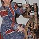 """Одежда ручной работы. Ярмарка Мастеров - ручная работа. Купить Платье в этностиле """"Пелагея"""". Handmade. Синий, платье для праздника"""
