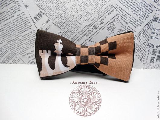 Галстуки, бабочки ручной работы. Ярмарка Мастеров - ручная работа. Купить Галстук-бабочка Шахматы/ Ладья/ Ферзь/ шахматные фигуры/ интеллект/ иг. Handmade.