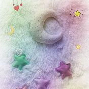 Для дома и интерьера ручной работы. Ярмарка Мастеров - ручная работа Мобиль - подвеска Луна и звезды. Handmade.