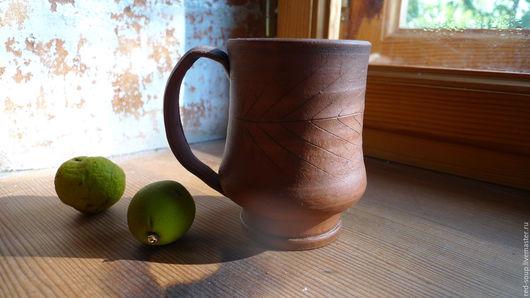 Кружки и чашки ручной работы. Ярмарка Мастеров - ручная работа. Купить Чашка керамическая. Handmade. Коричневый, керамика ручной работы