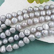 Материалы для творчества handmade. Livemaster - original item 10 PCs. Pearls of nature. free forms 9-10 mm gray (5663). Handmade.