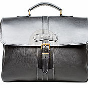 Сумки и аксессуары handmade. Livemaster - original item Leather briefcase Lite black. Handmade.