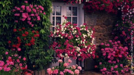Другие виды рукоделия ручной работы. Ярмарка Мастеров - ручная работа. Купить Картина по номерам Розовый фасад. Handmade.