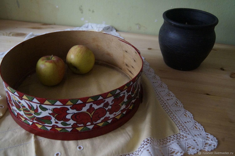 Старинное сито, пермогорская роспись, Посуда, Северск,  Фото №1