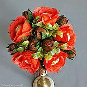 Цветы и флористика ручной работы. Ярмарка Мастеров - ручная работа Букет из конфет с ФеррероРоше. Handmade.