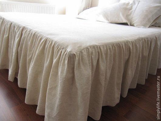 Текстиль, ковры ручной работы. Ярмарка Мастеров - ручная работа. Купить Покрывало из льна. Handmade. Бежевый, покрывало из льна
